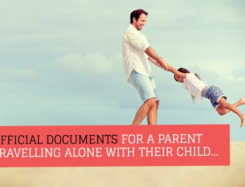 Notarising a letter of consent for single parent holiday travel